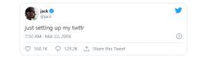 Premier tweet de Jack Dorsey